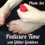 Pedicure time glitter goddess foot worship