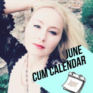 June Cum Calendar Glitter Goddess